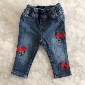 Baby gap Disney Minnie jeans 12-18 months